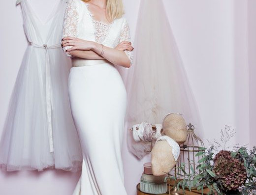 Leona Body / Lace Wedding Top by Zetterberg Couture