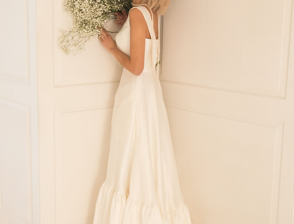 Peggy |  Tierred A-line Wedding Dress by Freda Bennet