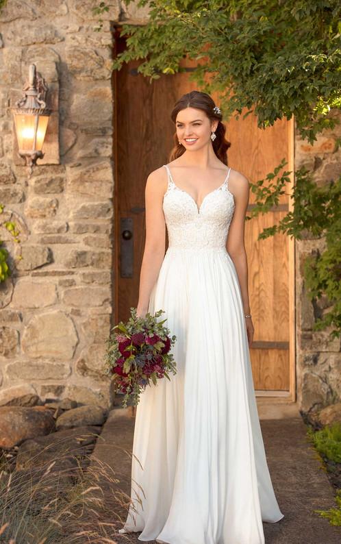 D2456   Ultimate Beach Wedding Gown by Essense of Australia
