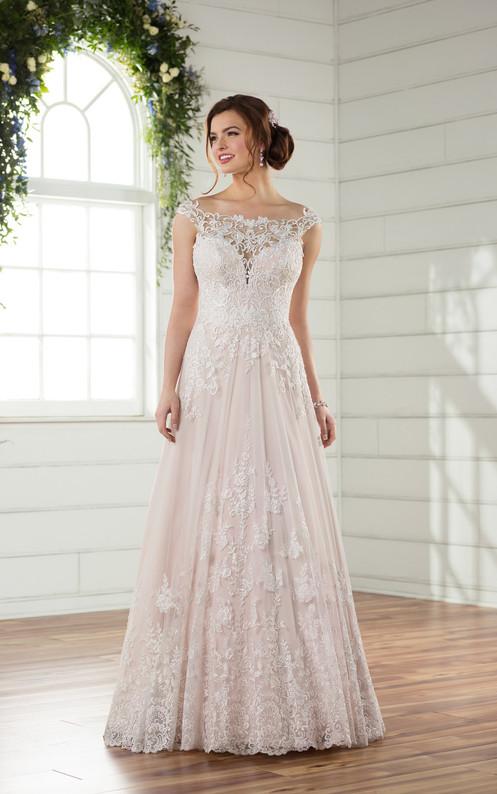 8b1506d69fb9 D2327 | Off The Shoulder Boho Wedding Gown by Essense of Australia