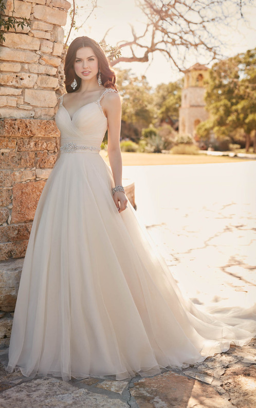 D2175 | A-Line Wedding Gown with Ruched Sweetheart Bodice, Essense ...