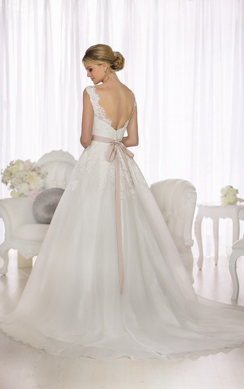 D1662   A-Line Lace and Royal Organza Wedding Gown by Essense of ...