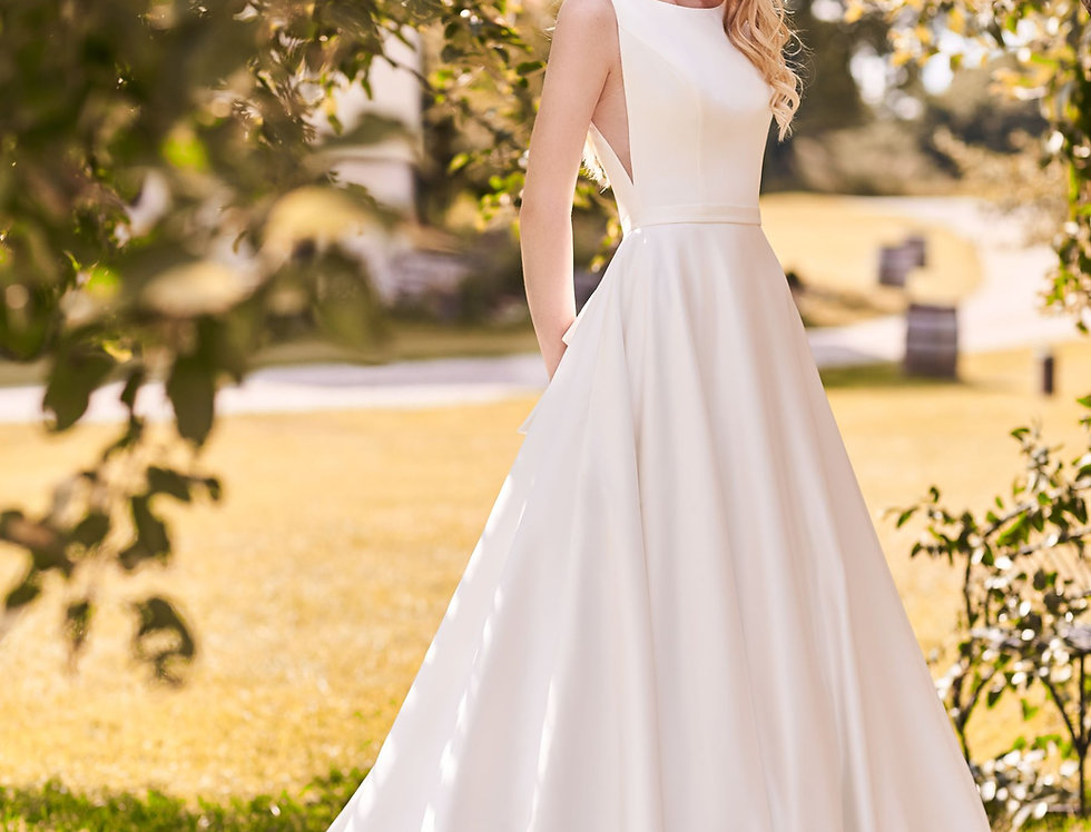 2282 | Satin Ball Gown with Bow by Mikaella