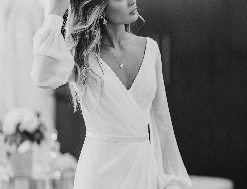 Adriana | Cross Body Wedding Dress by Wendy Makin