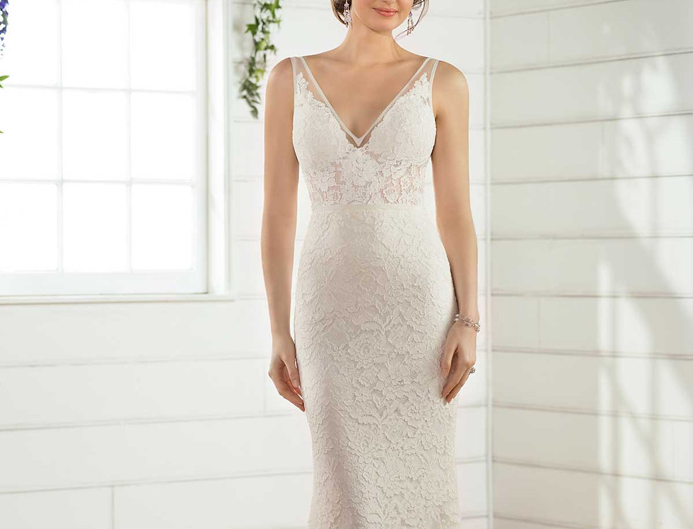 D2474 | Striking Boho Wedding Gown by Essense of Australia