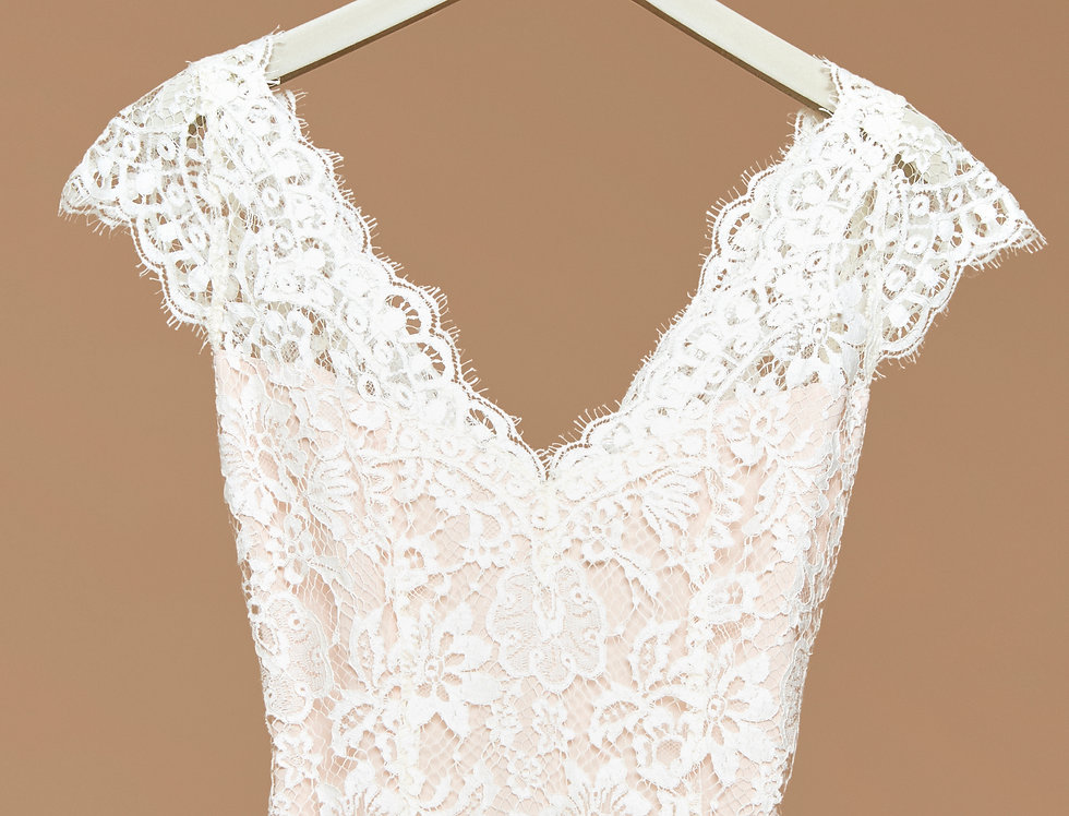 Mary/ Lace Wedding Blouse by Zetterberg Couture