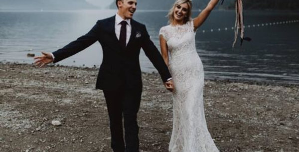 Roxanne | Fit and Flare Lace Wedding Dress by Wendy Makin