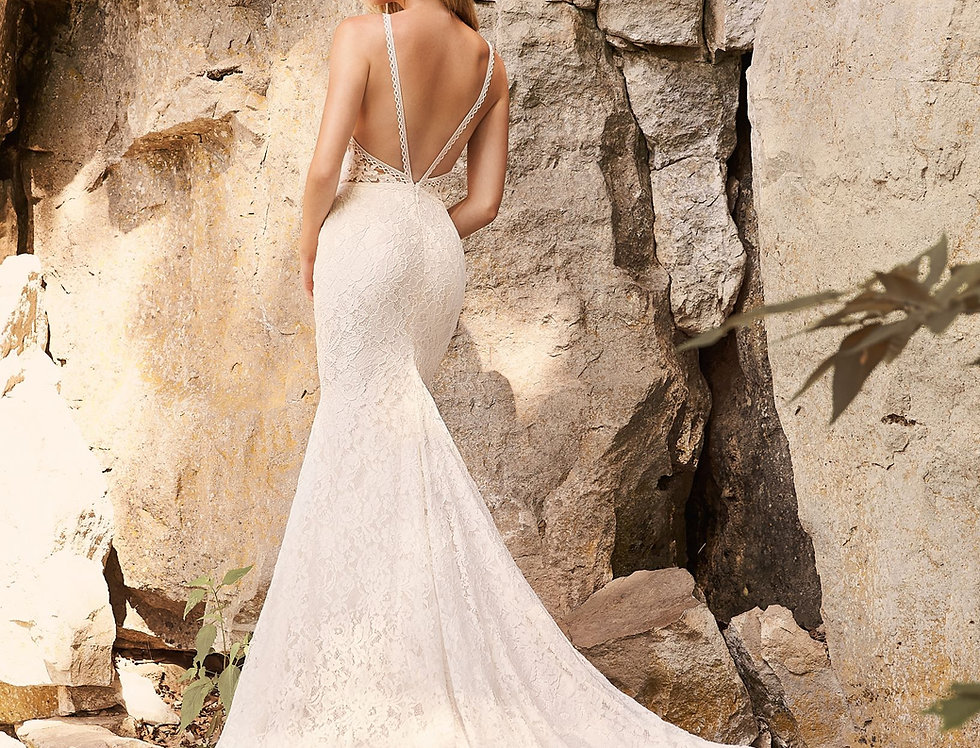 2330 | Contemporary Lace Wedding Dress by Mikaella