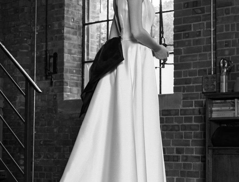 Madison | High Low Hem Wedding Dress by Freda Bennet