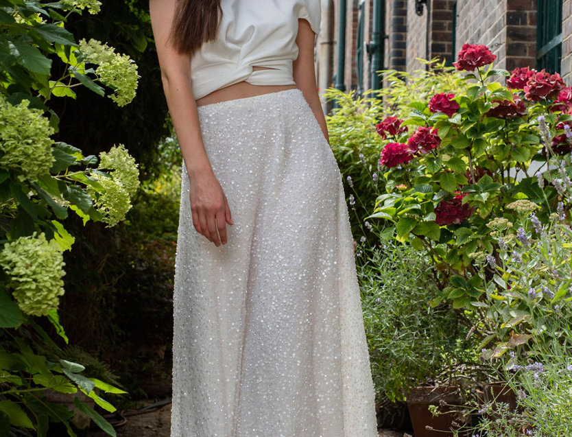 Monroe | Sequin Wedding Skirt by Freda Bennet