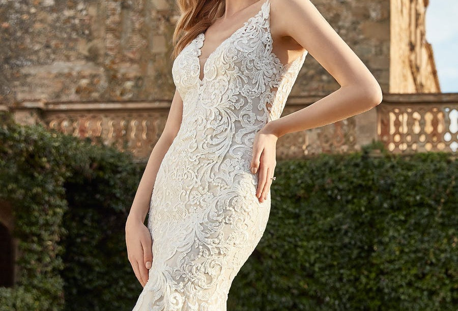 Florine | V-Neck Mermaid-Style Wedding Dress by San Patrick