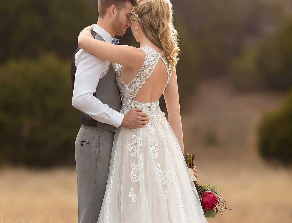 D2607 | Boho Wedding Dress by Essense of Australia