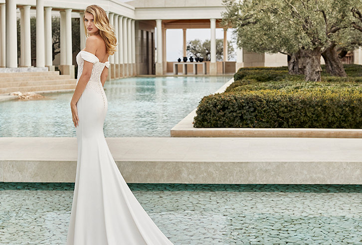 Sara | Strapless Fit and Flare Wedding Dress by Rosa Clara Couture