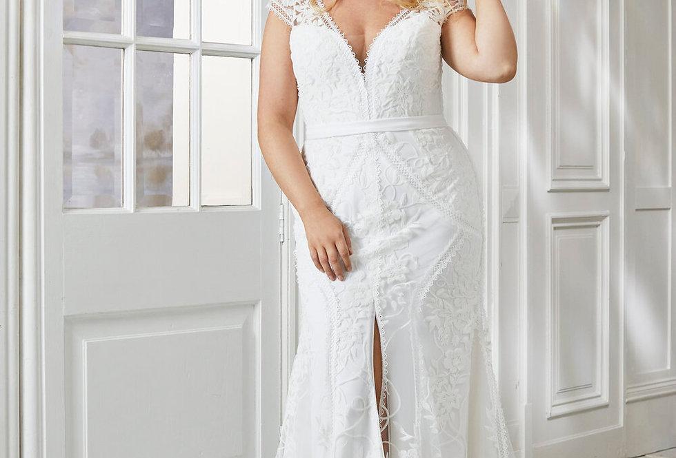 Melissa | Sophisticated Lace Wedding Dress by Savin London