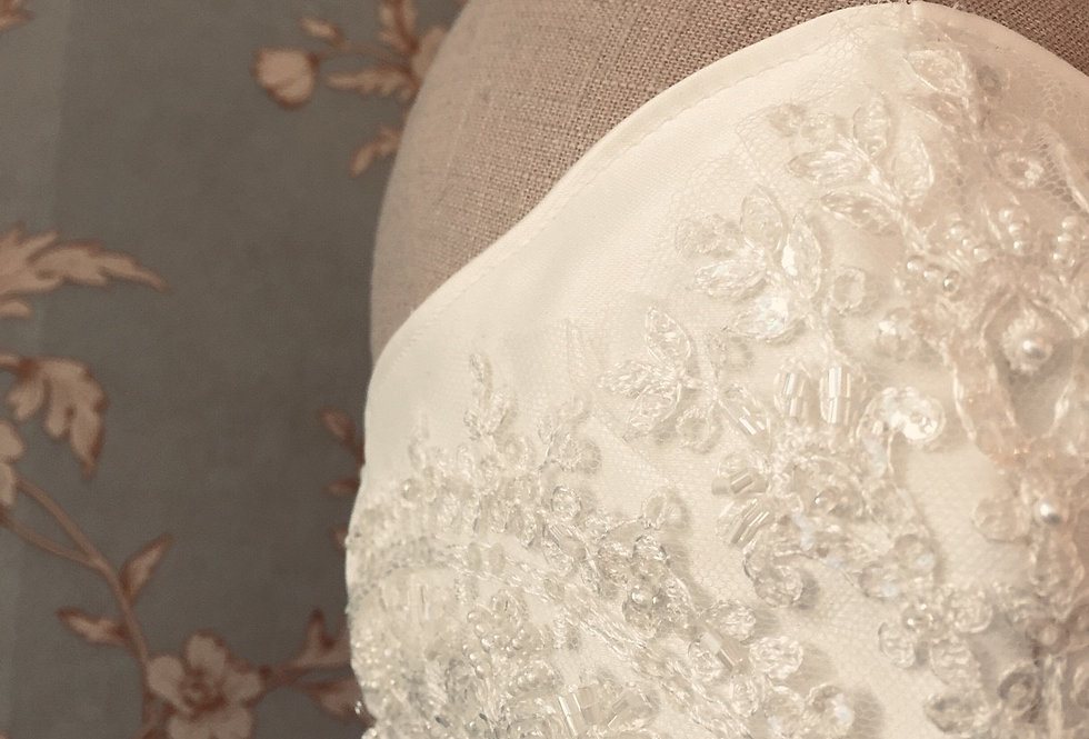 Bridal Mask   French Lace Mask by Joyce Jackson