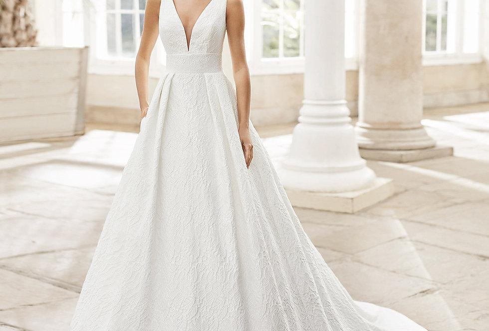 Tropico   Brocade Wedding Dress by Rosa Clara