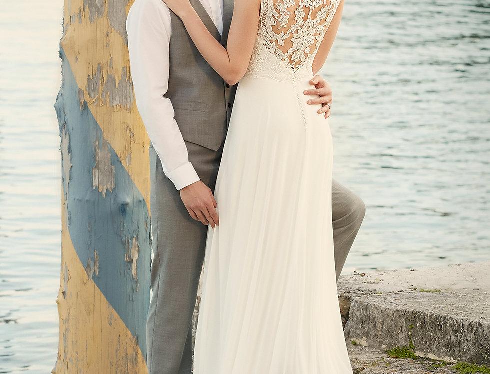 D1962 | Designer Beach Wedding Dress by Essense of Australia