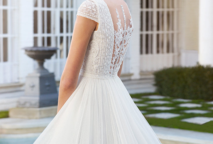 Cosme | Tulle and Beaded Lace Wedding Dress by Rosa Clara