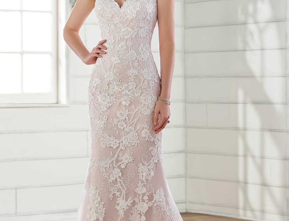 D2683 | Shimmering Fit & Flare Wedding Dress by Essense of Australia