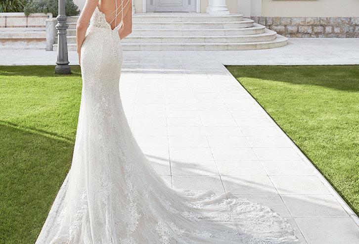Charlote | Beaded Lace Mermaid Wedding Dress by Rosa Clara
