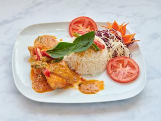 61. Salmon Panang Curry