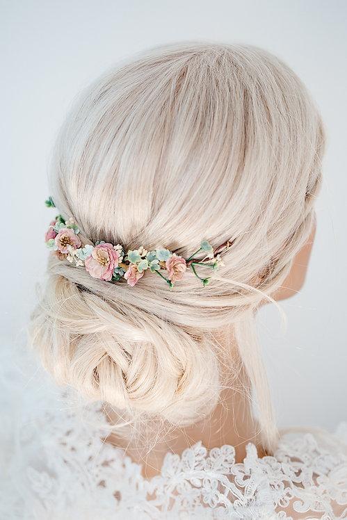 Blumenkranz Braut Hochzeit Haarkranz Blumen Haarschmuck Brautjungfern Oktoberfest Kranz Kopfschmuck Haarband Ranke Draht