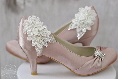Schuhclips mit Spitze