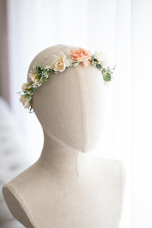 Braut Blumenkranz Haarkranz Haarband Haarschmuck Dirndl Hochzeit Oktoberfest Kranz Kopfschmuck eukalyptus schleierkraut