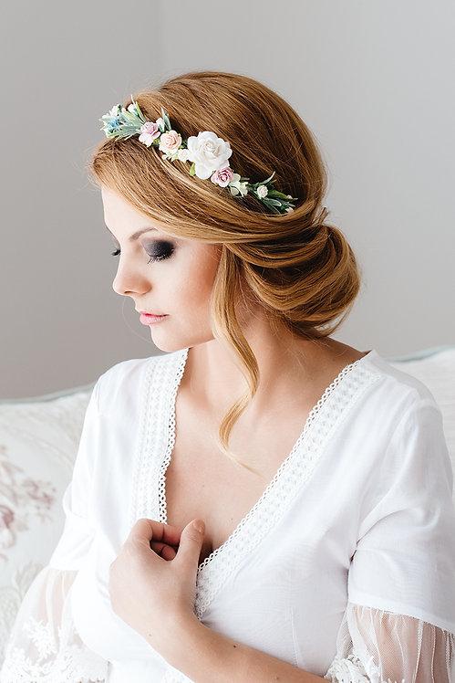Blumenkranz Braut Hochzeit Haarkranz Blumen Haarschmuck Brautjungfern Oktoberfest Kranz Kopfschmuck Haarband Frühlingsfest