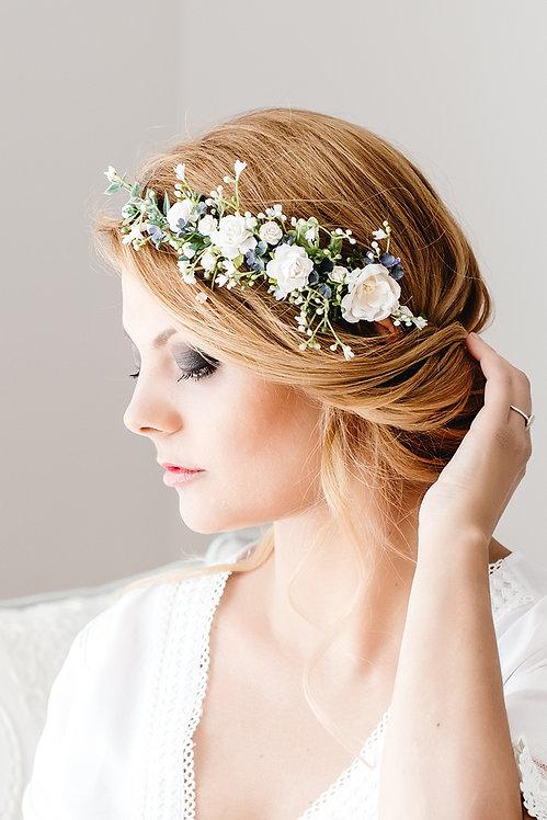Blumenkranz Braut Hochzeit Haarkranz Blumen Haarschmuck Brautjungfern Oktoberfest Kranz Kopfschmuck Haarband Eukalyptus