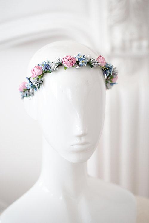 Braut Blumenkranz Hochzeit Haarkranz Blumen Haarschmuck Brautjungfern Oktoberfest Kranz Sommerfest Kopfschmuck Haarband Blüte