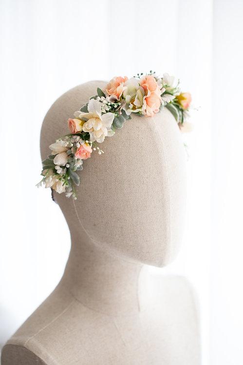 Braut Blumenkranz Haarkranz Haarband Haarschmuck Dirndl Hochzeit Oktoberfest Kranz Kopfschmuck Babybauch Fotoshooting