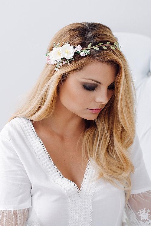 Blumenkranz Braut Hochzeit Haarkranz Blumen Haarschmuck Brautjungfern Oktoberfest Kranz Kopfschmuck Haarband