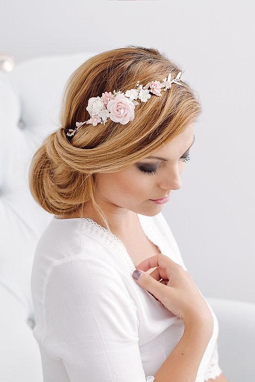 Blumenkranz Braut Hochzeit Haarkranz Blumen Haarschmuck Brautjungfern Oktoberfest Kranz Kopfschmuck HaarbandSchleierkraut