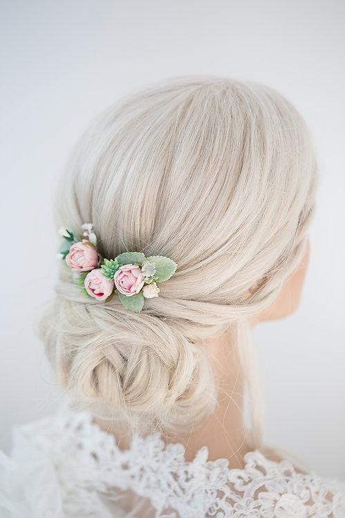Blumenkranz Braut Hochzeit Haarkranz Blumen Haarschmuck Brautjungfern Oktoberfest Kranz Kopfschmuck HaarbandEukalyptus pink