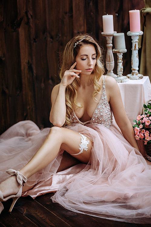 Braut Strumpfband BrautstrumfbandHochzeit Accessoires Hochzeitskleid Brautkleid Etwas blaues Hochzeit Schmuck rosa satin