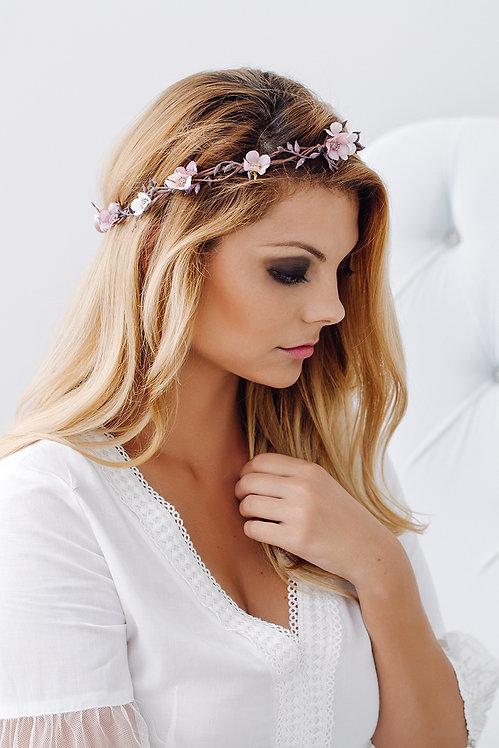 Blumenkranz Braut Hochzeit Haarkranz Blumen Haarschmuck Brautjungfern Oktoberfest Kranz Kopfschmuck Haarband lila rosa rosé