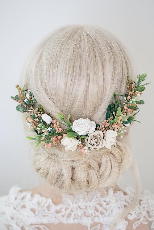 Blumenkranz Braut Hochzeit Haarkranz Blumen Haarschmuck Brautjungfern Oktoberfest Kranz Kopfschmuck Eukalyptus