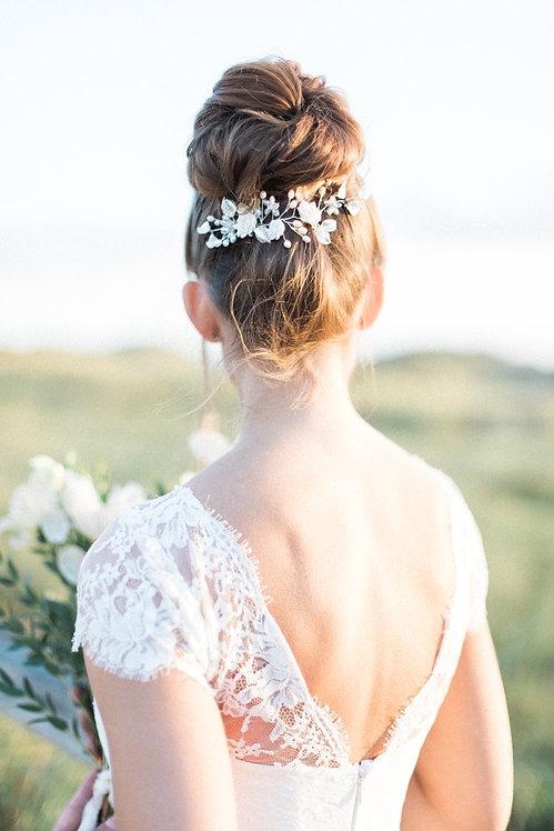 Haarschmuck Hochzeit Braut Headpiece mit perlen in silber