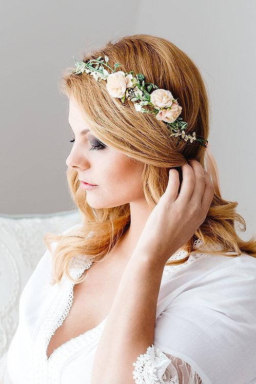 Blumenkranz Braut Hochzeit Haarschmuck Haarblumen Haarkranz Kranz Flower Crown Hair wreath rosen online kaufen