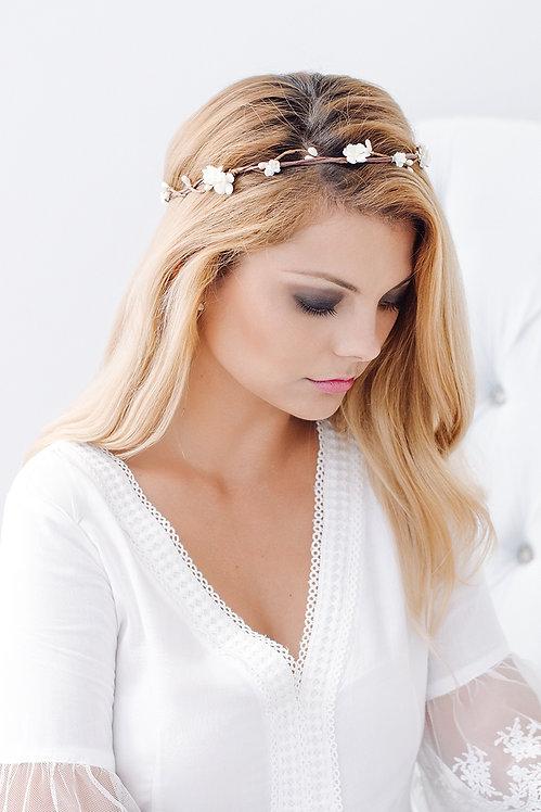 Blumenkranz Braut Hochzeit Haarkranz Blumen Haarschmuck Brautjungfern Oktoberfest Kranz Kopfschmuck Haarband Blumenkind weiß