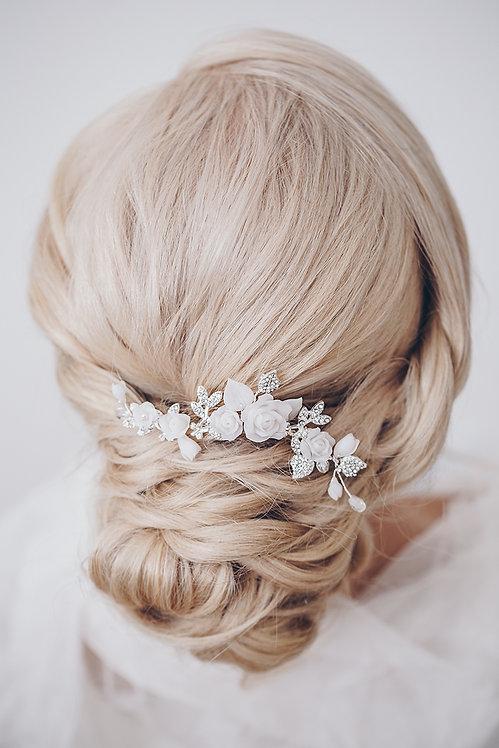Braut Haarschmuck Headpiece Hochzeit Haarband Ranke Draht Kopfschmuck Perlen Strass haarkamm spange blumen braut blüte rosen