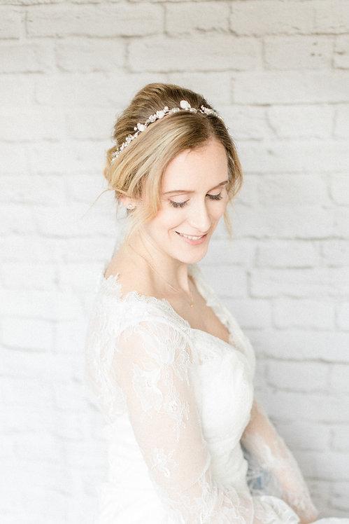 Braut Haarschmuck Headpiece Hochzeit Haarband Ranke Draht Kopfschmuck Perlen Strass spange blumen braut blüte tiara