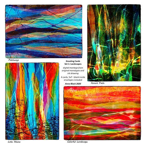 Greeting Card Set 1: Landscapes, by Anne Black