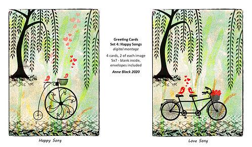 Greeting Card Set 4: Happy Songs, by Anne Black