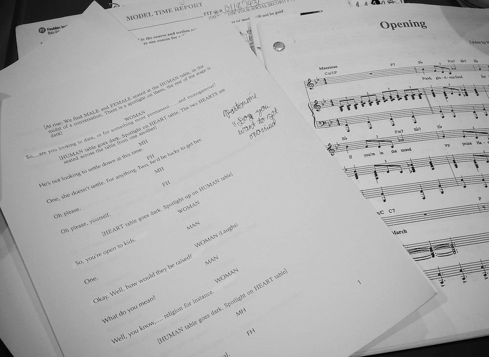 scripts and sheet music
