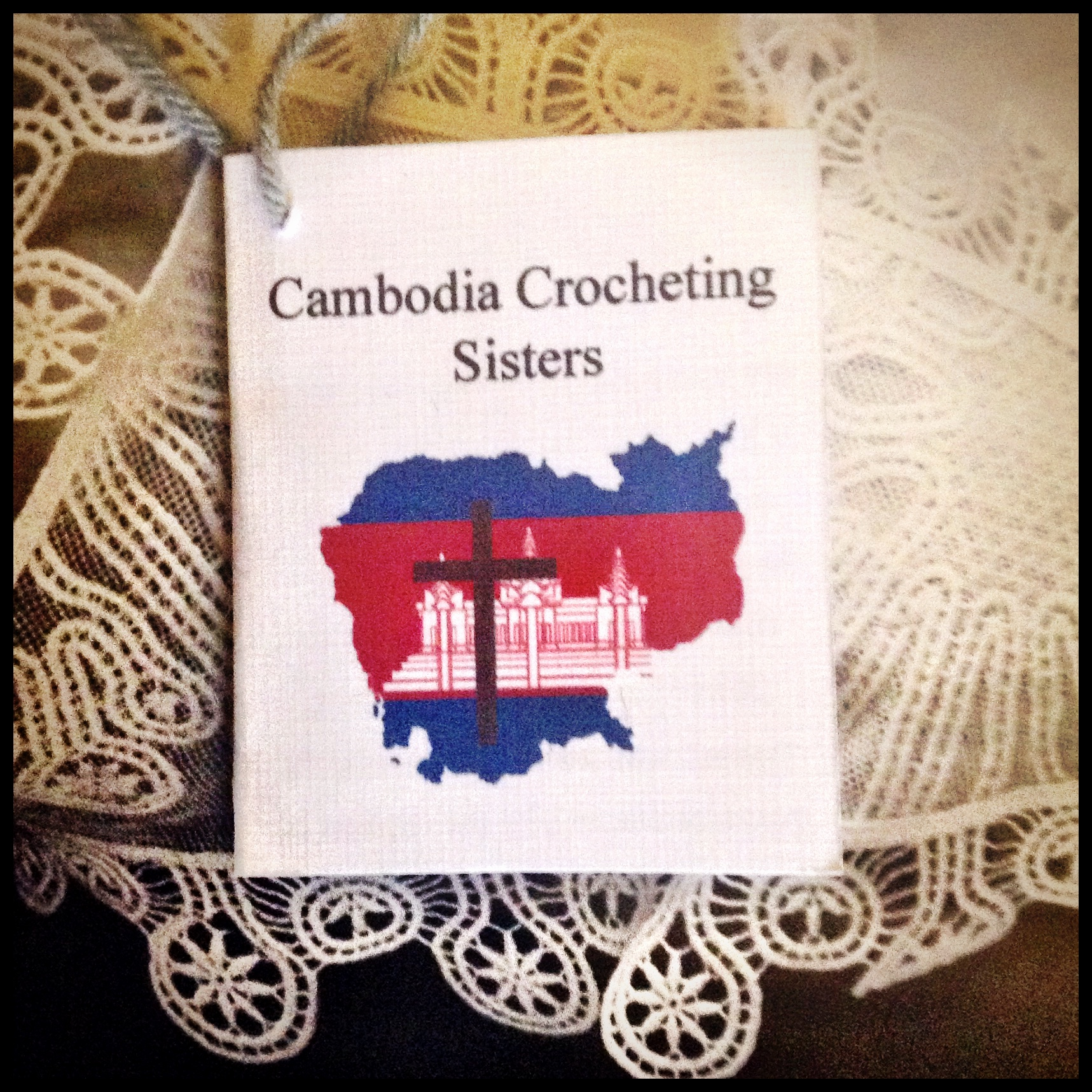 Cambodia Crocheting Sisters