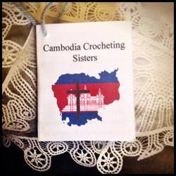 Cambodia Crocheting Sisters