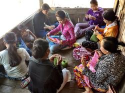 Cambodia Crocheting Sisiters