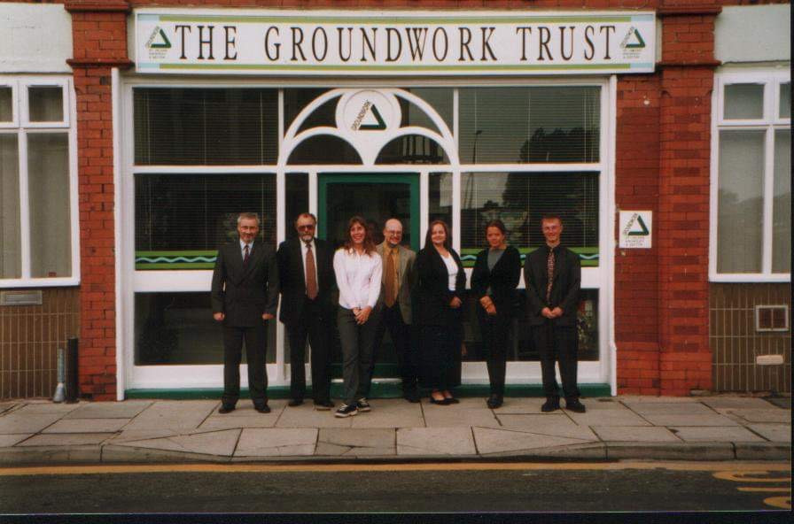 The Groundwork EBS Team circa 1999 outside the Shaw Street St Helens offices